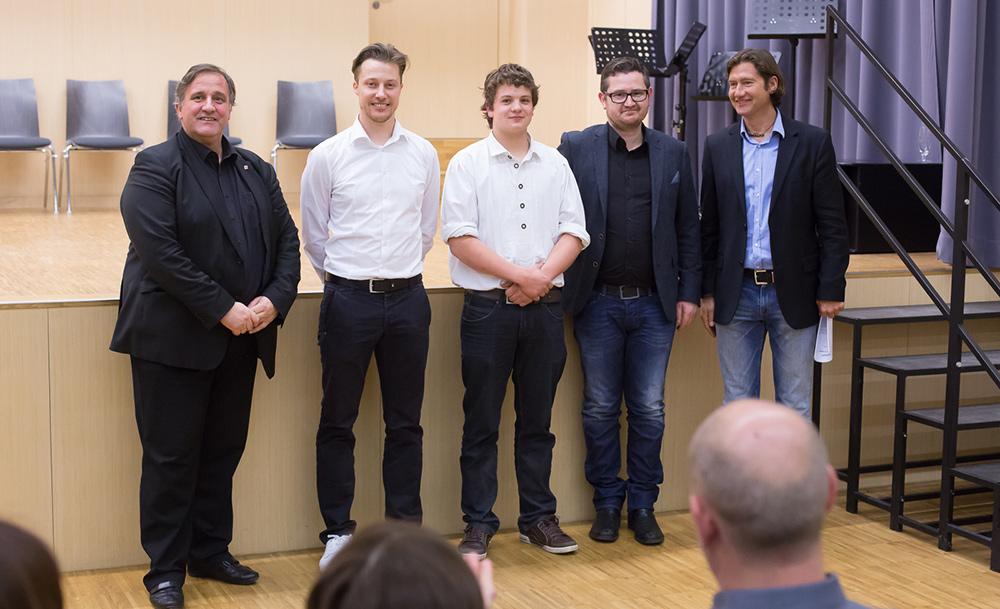 """Gut wie erwartet – das Trompetenquartett """"Sankt X 3"""" mit Martin Gratz (rechts)."""
