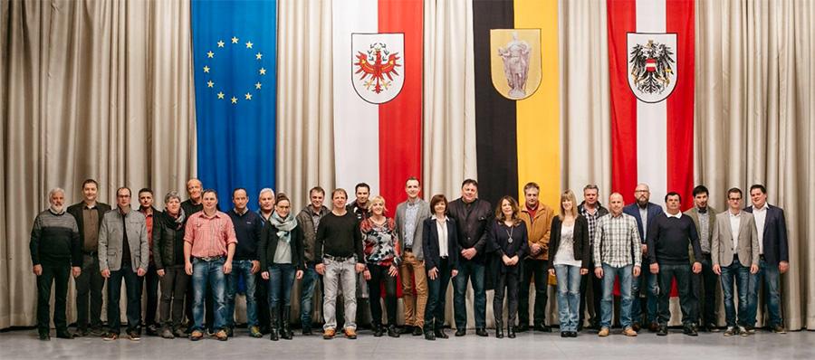 Das Team des Matreier Bürgermeisters für die Wahl 2016. Foto: Gsaller