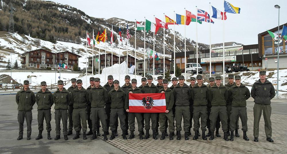 Vollzählig angetreten: die Mannschaft des Jägerbataillons 24 bei den Sportwettkämpfen in Sestriere.
