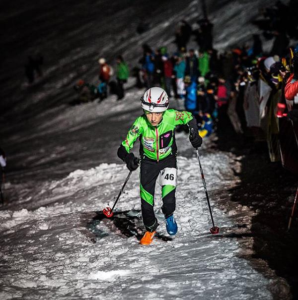 Weit und breit keine Gegnerin in Sicht. Susanne Mair ist als Vertical Up-Läuferin eine Klasse für sich.