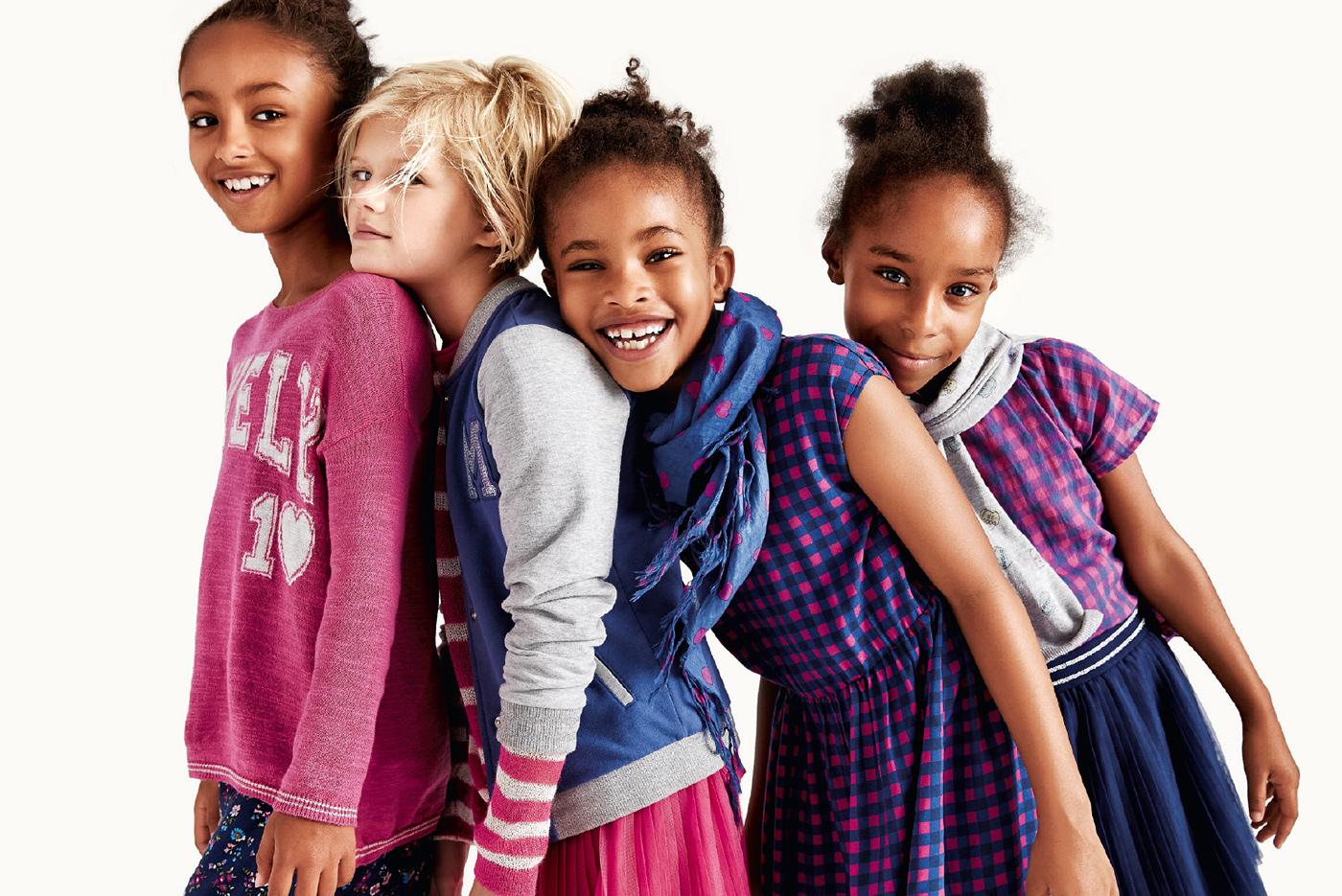 Eine Explosion aus Farbe und Heiterkeit – die Kollektion für kleine Cheerleaders. Foto: United Colors of Benetton.