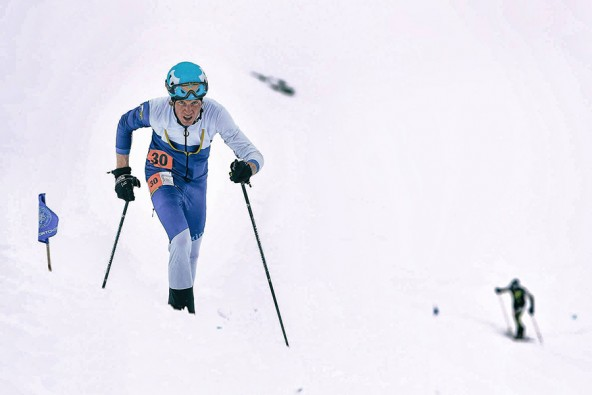 Auf und davon – das ist der Modus, in dem Manuel Seibald heuer beim Skiberglauf unterwegs ist. Foto: Willi Seebacher
