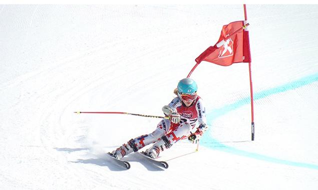 Barbora Novakova vom Skiclub Lienz holte Gold im Super-G U14.