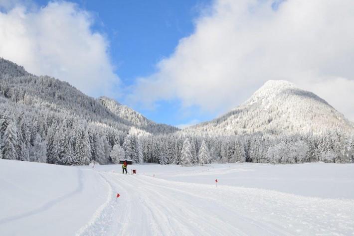 """""""Langlaufen"""" im Winterzauber statt Hardcore-Action im Hochgebirge – Laserzlauf einmal anders."""