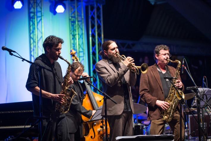 "Romed Hopfgartner (links) & The Pocket Club feat. Mario Rom & Herwig Gradischnig widmen sich dem ""Jazz-Boogaloo"" der 60er Jahre. Foto: Karin Gruber"